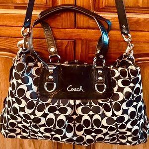 🌟HP🌟Coach Signature  Leather&Canvas Shoulder Bag